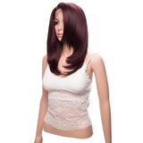 Middle Length Red Synthetic Lace Front Wigs