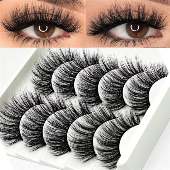 5 Pairs Multipack 5D Soft Mink Hair False Eyelashes