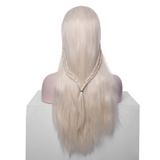White Blonde Synthetic Lace Front Wigs