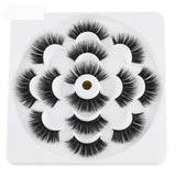 7 Pairs 3D Mink Hair False Eyelashes 25mm Lashes
