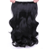 Natural Halo Hair Extensions 4 Clips In One Piece In 24 inch 190g Synthetic Heat Resistant Fiber Hair Extensions