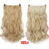 28''  Long Synthetic Hair Clip In Hair Extension Heat Resistant Hairpiece Natural Wavy Hair Piece