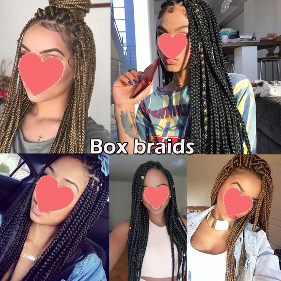 24inch Crochet Box Braids Hair Extensions 24strands/pack Ombre Synthetic Braiding Hair crochet braids for black women