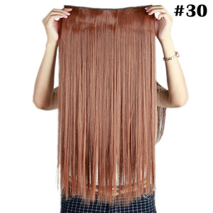 Fall to waist 46-76 CM Longest Clip in One Piece Hair Extensions Real Natural Thick Synthetic hair for women