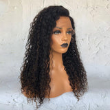 """Allegra"" Long Curly Wig With Brown Highlights [HW026]"