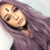 FPC Purple Synthetic Lace Front Wigs SLW002