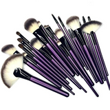 Purple Tulip 24 Piece Makeup Brush Set