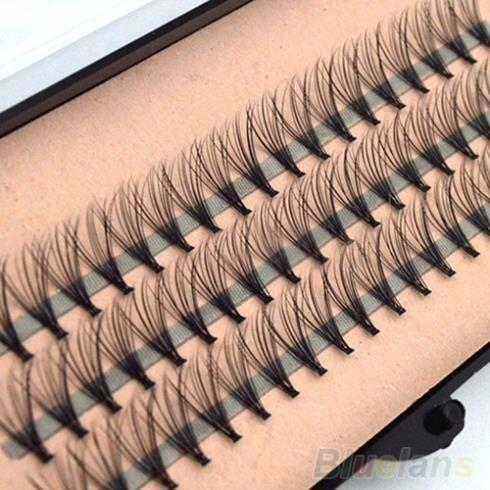 Fashion 60pcs Professional Makeup Individual Cluster Eye Lashes Grafting Fake False Eyelashes