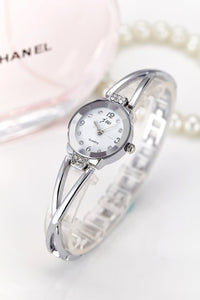 Rhinestone Watches Women Luxury Stainless Steel Bracelet watches Ladies Quartz Dress Watches