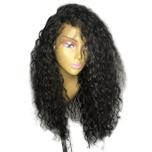 High Density Natural Wave 360 Lace Frontal Wig Pre Plucked With Baby Hair