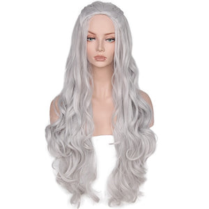 Game of Thrones Khaleesi Costume Daenerys Targaryen Mother Of Dragons Cosplay Wig