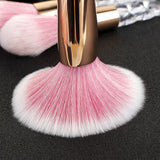 7pcs Red Black Unicorn Brushes Set