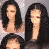 180% Density Water Wave Human Hair Lace Front Wig Natural Color Bleached Knots Brazilian Remy Hair