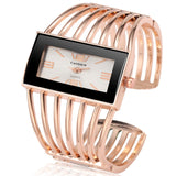 Womens Watch Luxury Fashion Rose Gold Bangle Bracelet Watch