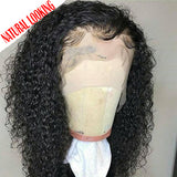 Short 13x6 Lace Front Human Hair Wigs Pre Plucked With Baby Hair Deep Part Curly Brazilian Remy Hair Lace Front Wigs 8-16""