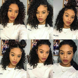 Short Bob Curly Lace Front Human Hair Wigs For Black Women