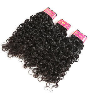 6A Grade Brazilian Virgin Hair Water Wave 3Pcs/Pack Natural Black Color