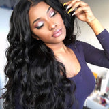 250% Density Brazilian Hair 360 Lace Frontal Wig With Baby Hair Body Wave Pre Plucked