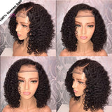 Short Curly Full Lace Human Hair Wigs Brazilian Remy Hair 4 in 1 picture