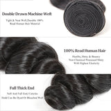 6A Grade Brazilian Virgin Hair Loose Wave 3Pcs/Lot Natural Color