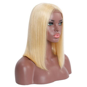 Blonde Short Bob Lace Front Human Hair Wigs For Black Women Pre Plucked