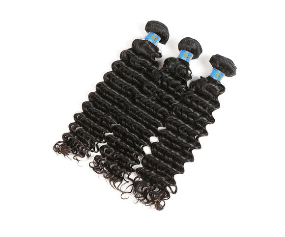 6A Grade Brazilian Virgin Hair Kinky Curly 3Pcs/Pack Natural Black Color