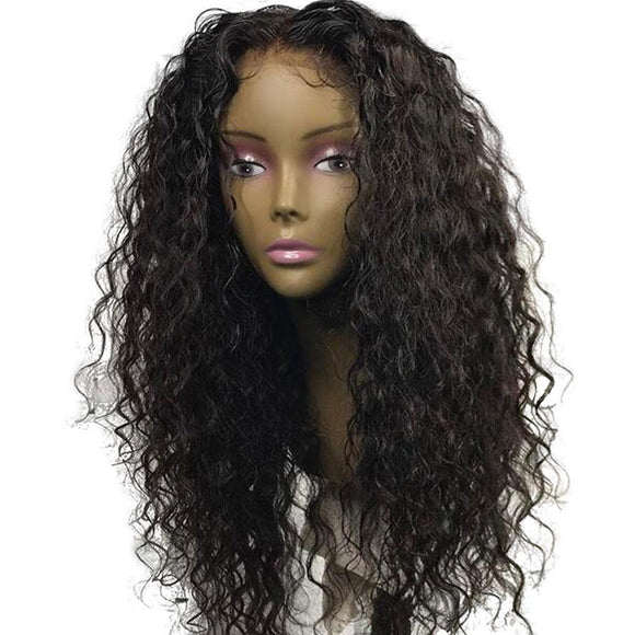 High Density Curly 360 Lace Frontal Wig Pre Plucked With Baby Hair