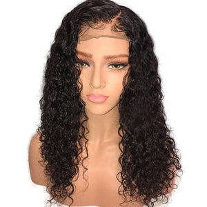 Curly Glueless Full Lace Human Hair Wigs With Baby Hair