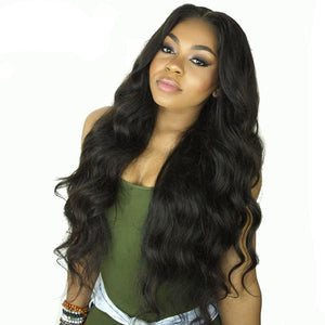 Body Wave Lace Front Human Hair Wigs For Women Pre Plucked Hairline With Baby Hair