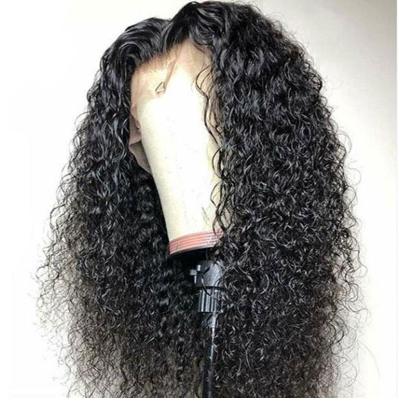 Curly Human Hair Lace Front Wigs With Baby Hair Pre Plucked Hairline Lace Front Wigs Bleached Knots Brazilian Remy Hair
