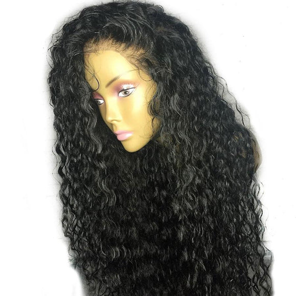 13x6 Water Wave Lace Front Human Hair Wigs Pre Plucked With Baby Hair