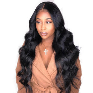 250% High Density 13x6 Lace Front Human Hair Wigs For Women Body Wave