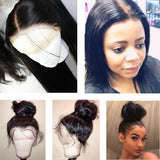 100% human hair Lace Frontal Wig Straight For Black Women