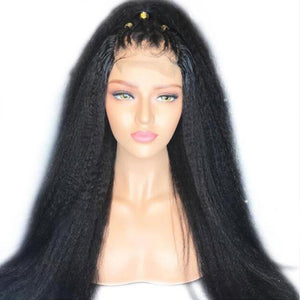 Lace Front Human Hair Wigs Pre Plucked With Baby Hair Yaki Straight Lace Front Wigs For Black Women Brazilian Remy Hair Wigs