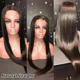 Brazilian Wig 4*4 Straight Lace Closure Wig Lace Front Human Hair Wigs Pre-Plucked With Baby Hair