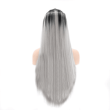 Black to Gray Synthetic Lace Front Wigs