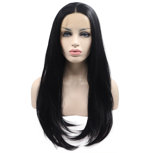 Black Synthetic Lace Front Wigs