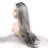 Ombre Grey Synthetic Lace Front Wigs