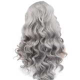 Silver Synthetic Lace Front Wigs