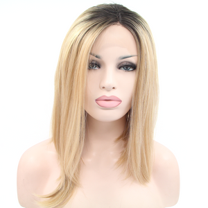 Blonde Synthetic Lace Front Wigs