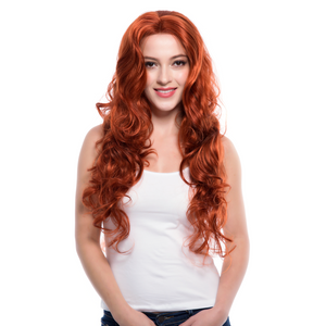 Copper Red Synthetic Lace Front Wigs
