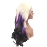Blonde to Purple Synthetic Lace Front Wigs