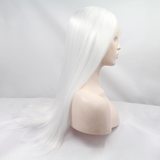 White Silver Synthetic Lace Front Wigs