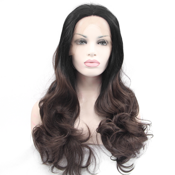 Dark Brown Synthetic Lace Front Wigs