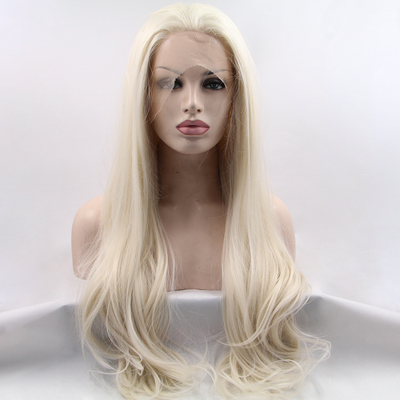 Light Blonde Synthetic Lace Front Wigs