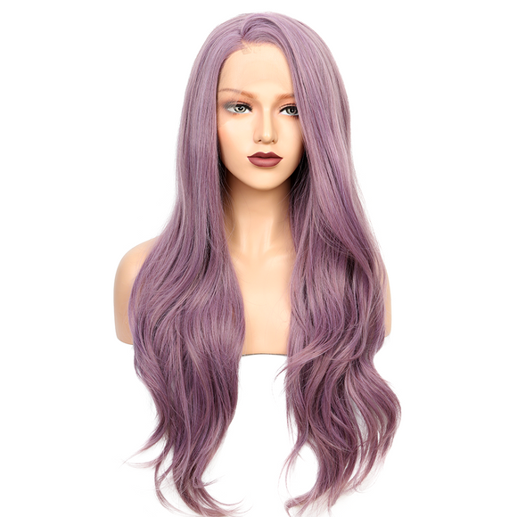 Purple Synthetic Lace Front Wigs