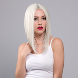 White Blonde Short Bob Synthetic Lace Front Wigs