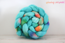 "Load image into Gallery viewer, ""Mermaid's Smile"" Roving - Fine Merino"