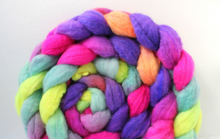 "Load image into Gallery viewer, ""Saltwater Taffy"" Roving - Fine Merino"