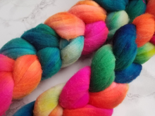 "Load image into Gallery viewer, ""Tropical Jellybean"" Roving - Fine Merino"